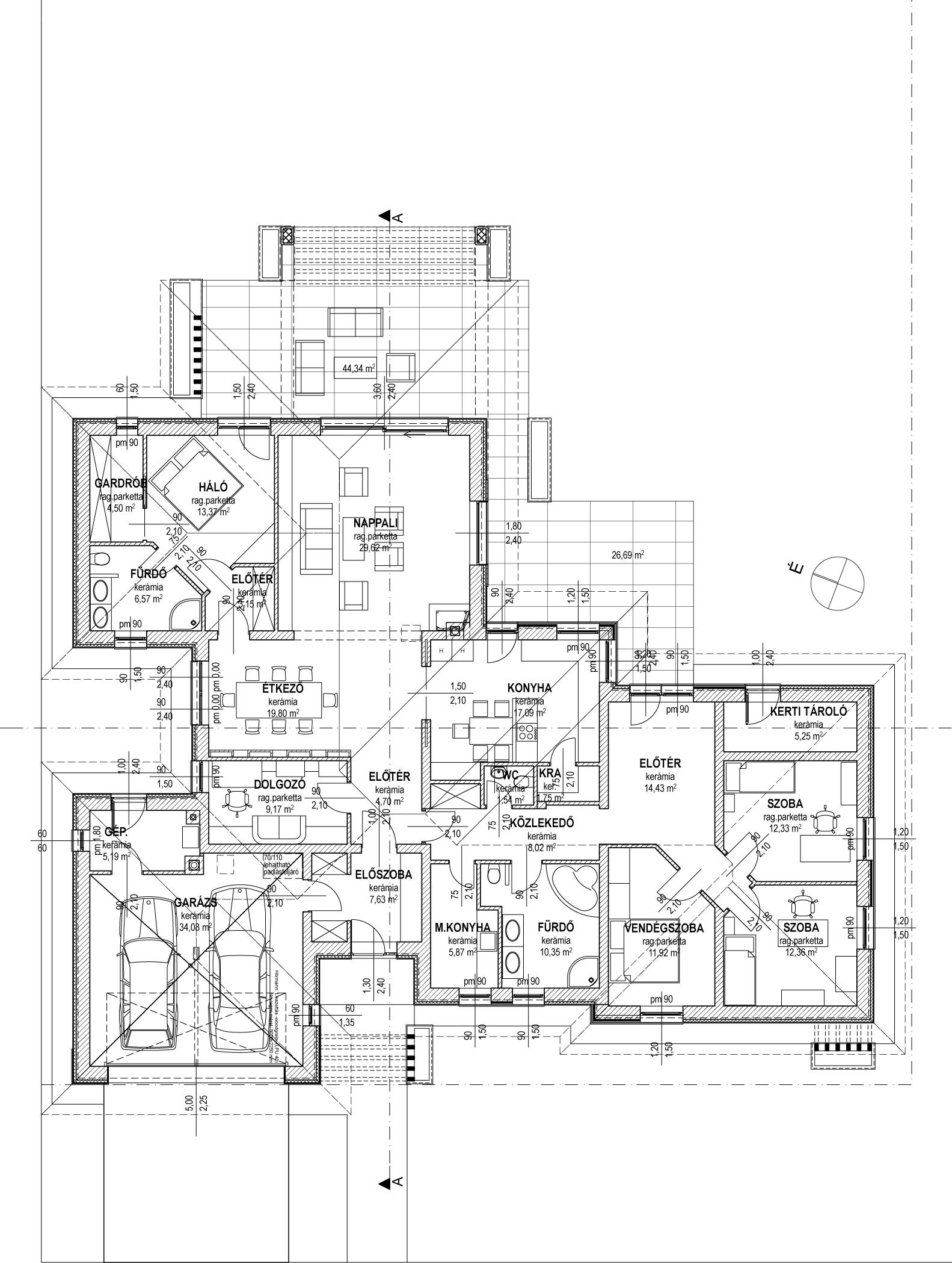 Egyszintes családi ház 238 m2