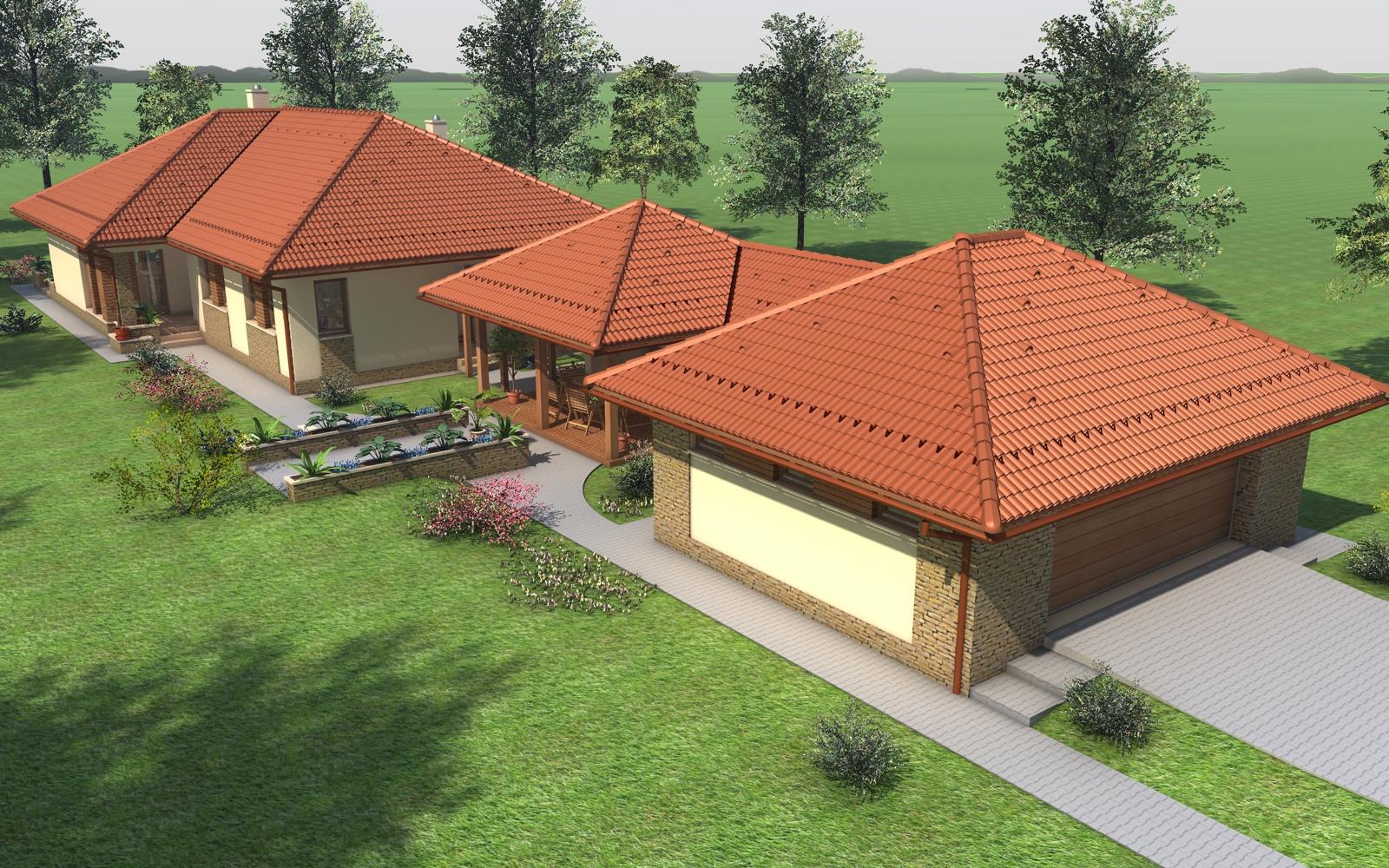 Egyszintes családi ház 240 m2
