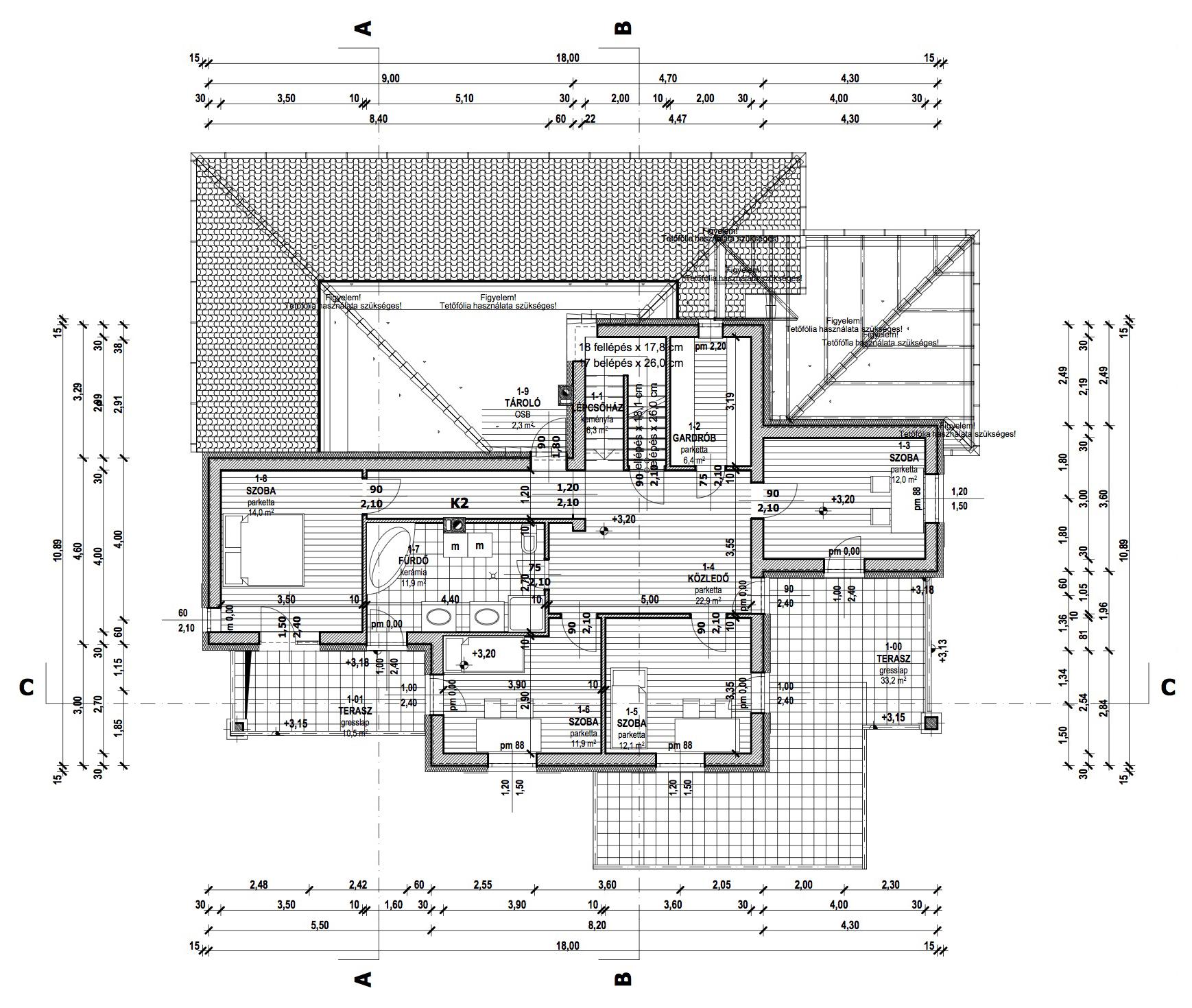 Emeletes családi ház 287 m2