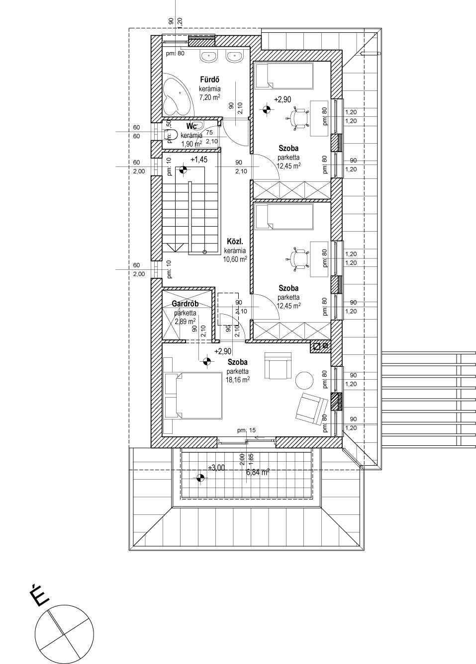 Emeletes családi ház 222 m2