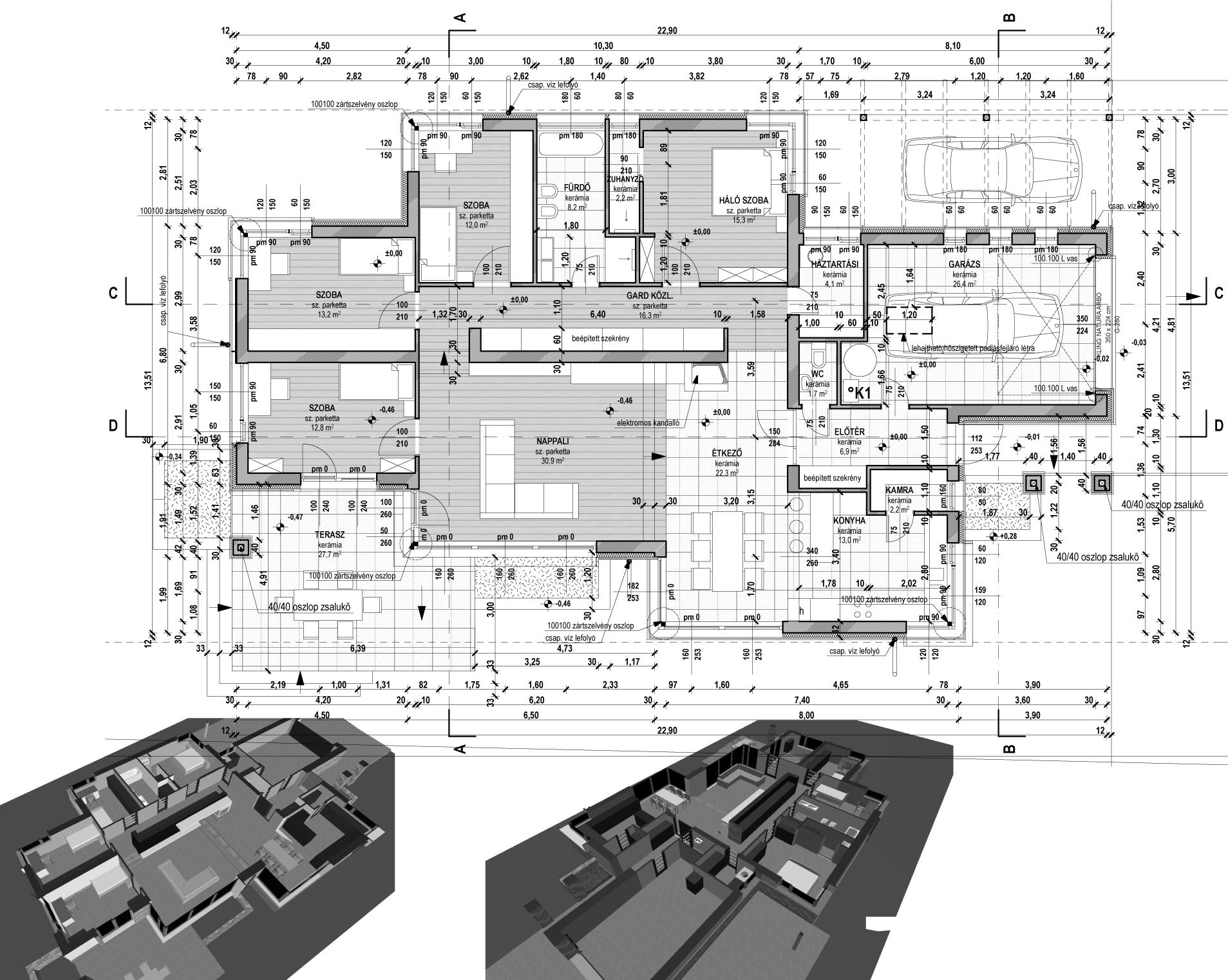 Egyszintes családi ház 188 m2