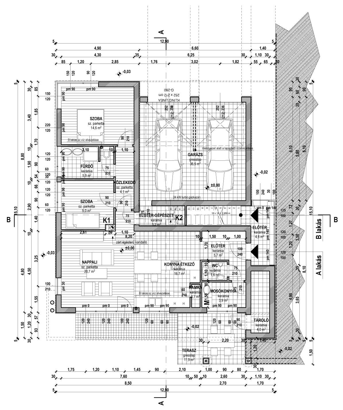 2 lakásos társasház 290 m2