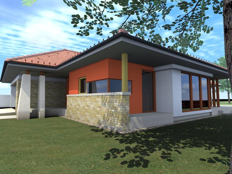 Egyszintes családi ház 203 m2