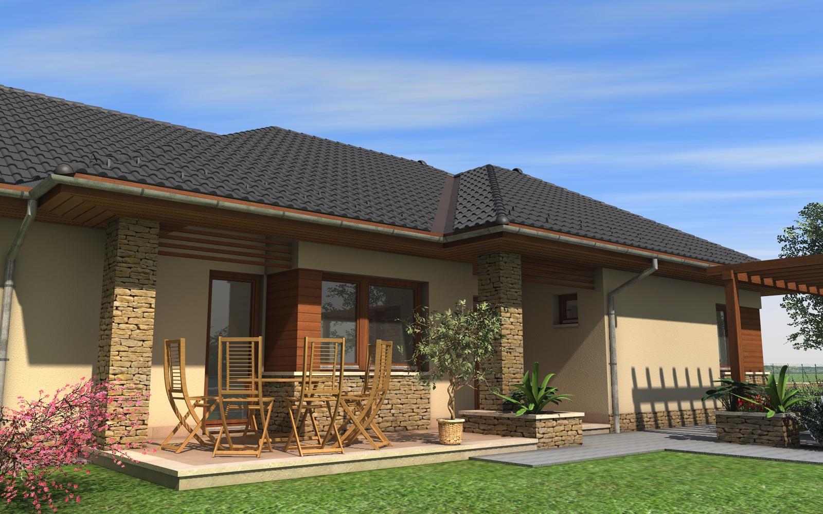 Egyszintes családi ház 195 m2