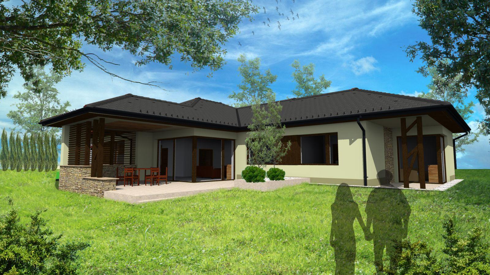 Egyszintes családi ház 186 m2
