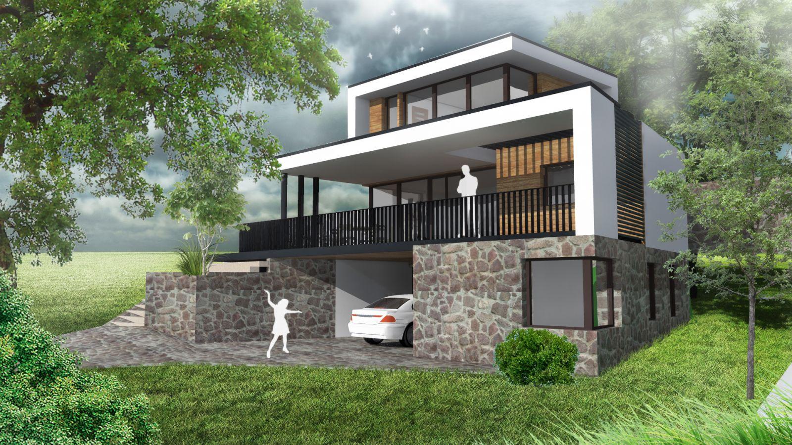 Emeletes családi ház 107 m2