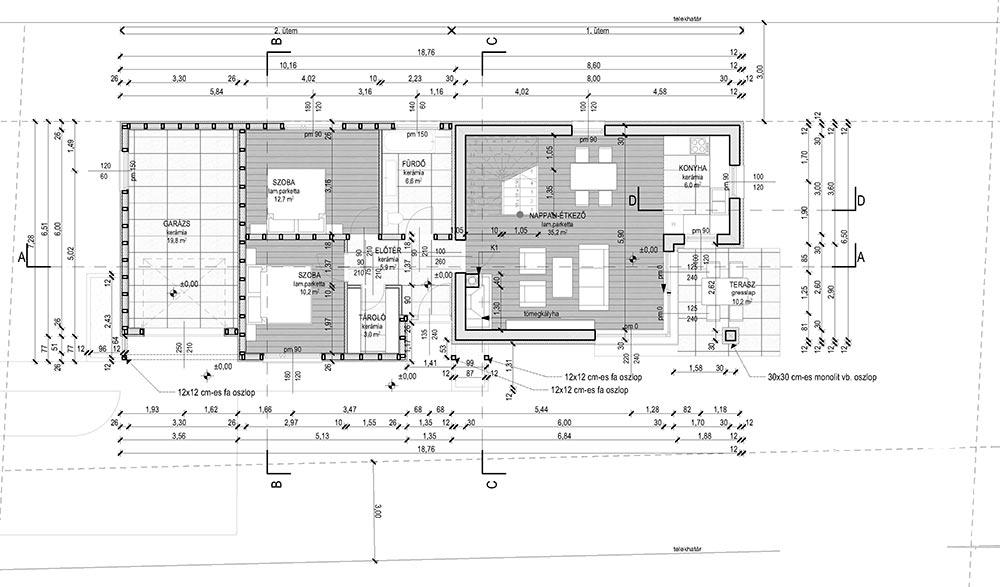 Emeletes családi ház 128 m2