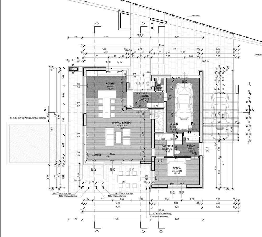 Emeletes családi ház 163 m2